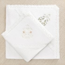 "Кружевное полотенце ""Процветший крест"""