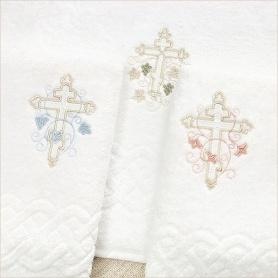 3 варианта вышивки на крестильных полотенцах
