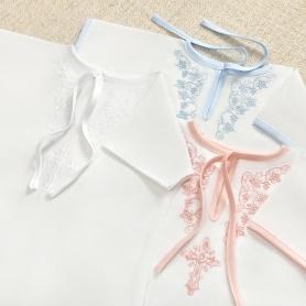 крестильные рубашки серии эконом с цветной вышивкой