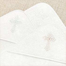 капюшоны махровых уголков для крещения - 4 цвета крестиков