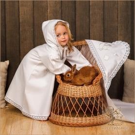 пеленка с капюшоном для крещения ребенка