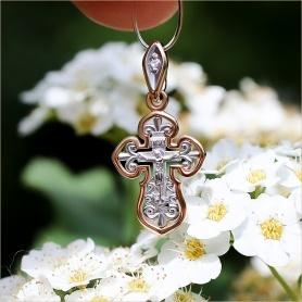 ажурный золотой крестик с бриллиантиком для девочки SOKOLOV