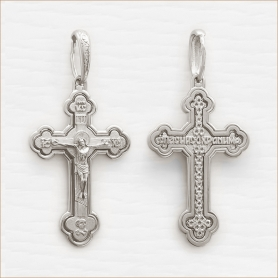 крестик серебряный арт.11942, мужской