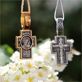 Серебряный крестик арт.8017