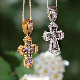 серебряный и позолоченный варианты креста 08105