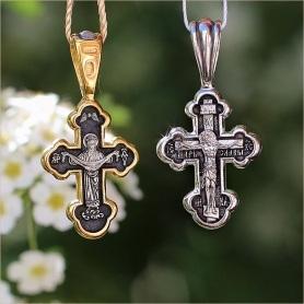 крест с образом Покрова Богородицы на обороте, арт 8010 Елизавета