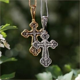 серебряный и позолоченный варианты крестика 8080 Елизавета