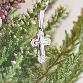 крестик арт.10341 из серебра для крещения ребенка