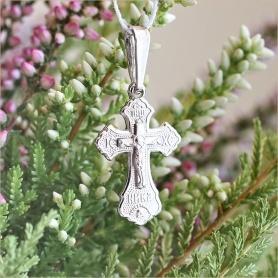 крестик арт.10346 из серебра православный