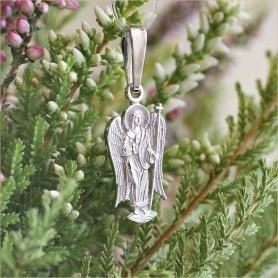 ангел-хранитель кулон из серебра с молитвой арт.11004