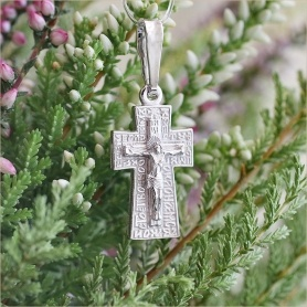 серебряный крестик для мальчика арт.11821 освященный