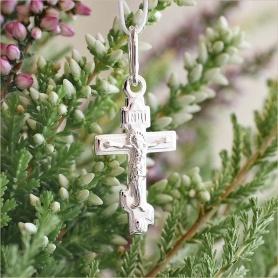 серебряный крестик детский арт.35181 классической формы