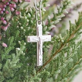 серебряный крестик детский арт.35184 строгой формы