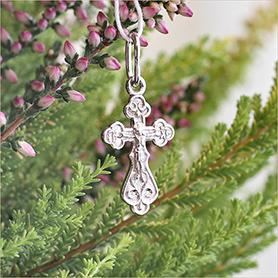 серебряный крестик детский арт.35210 маленький и легкий
