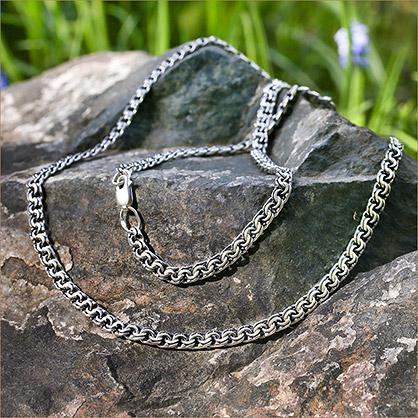 Мужская серебряная цепь Бисмарк 0,7 черненая - фото товара