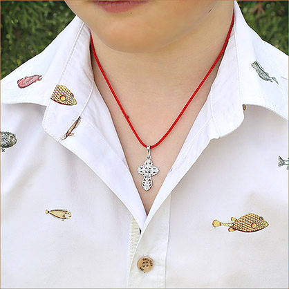 ажурный серебряный крестик арт.11164 для девочки или женщины