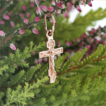 золотой миниатюрный крестик для ребенка Sokolov
