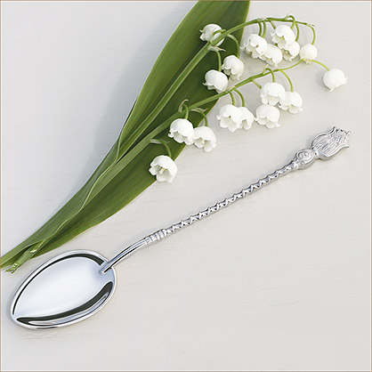 серебряная ложка с витой ручкой