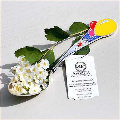 серебряная ложка Мечта с эмалью Аргента