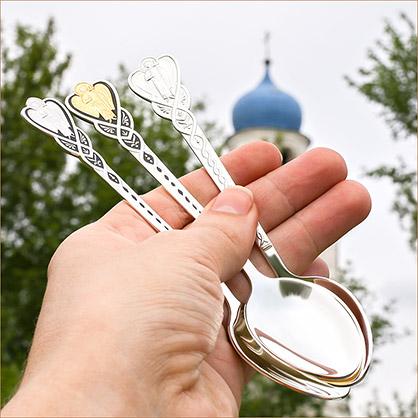 Серебряная ложечка с эмалью песня Ангела
