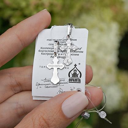 серебряный крестик детский арт.10201 литой маленький