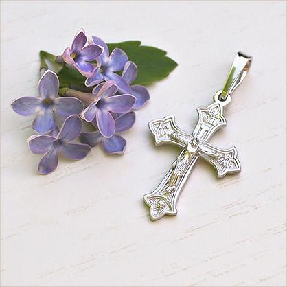 Крестик серебряный арт.10274 - фото товара