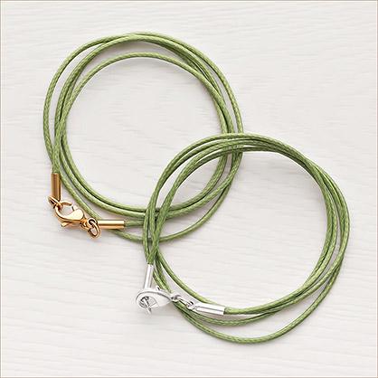 Гайтан зелёный текстильный - фото товара