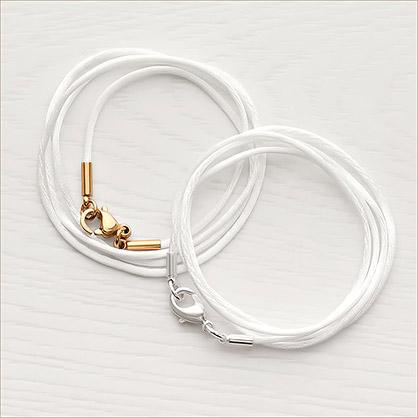 Гайтан белый шелковый - фото товара