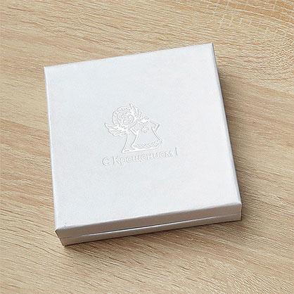 коробочка для серебряного крестильного набора - фото товара