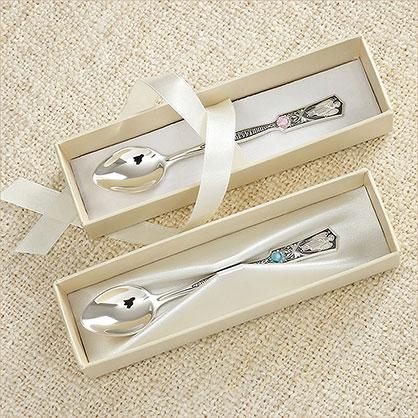коробочка для серебряной ложки в подарок на крестины - фото товара