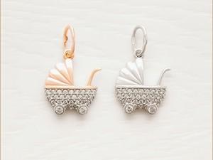 Золотая и серебряная подвеска для девочки
