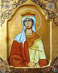 образ святой мученицы царицы Валерии
