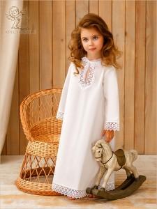 крестильная рубашка для девочки 4-12 лет