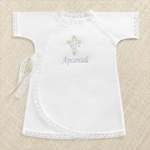 крестильная рубашка иван с именем мальчика
