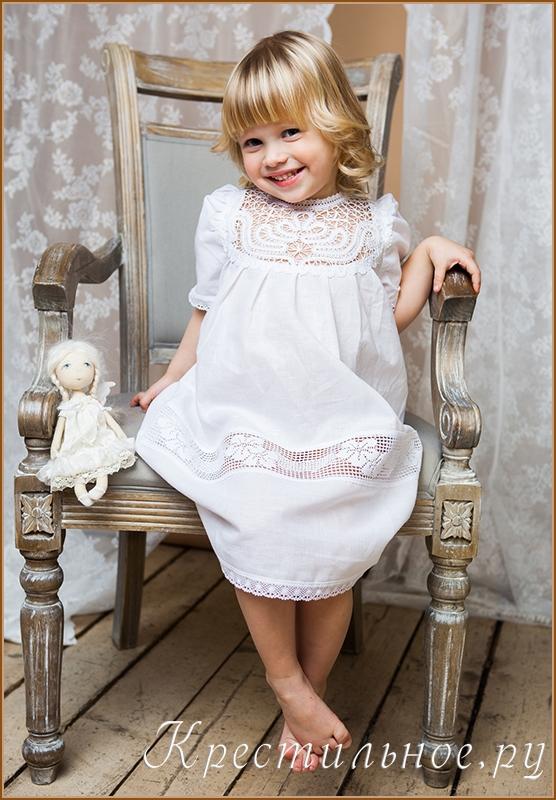 Платье для крещения для девочки 3 года