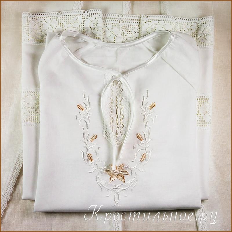 Вышивка для рубашки на крещение