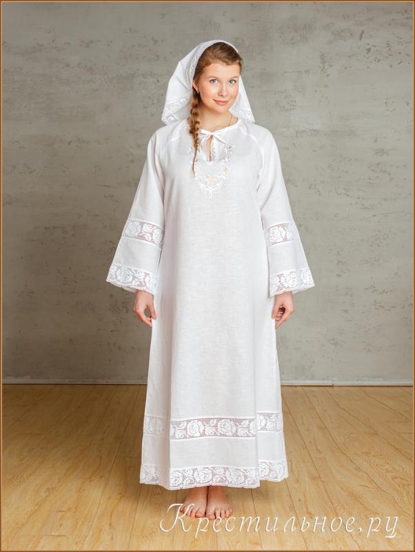 фото девушки в крестильной рубашке