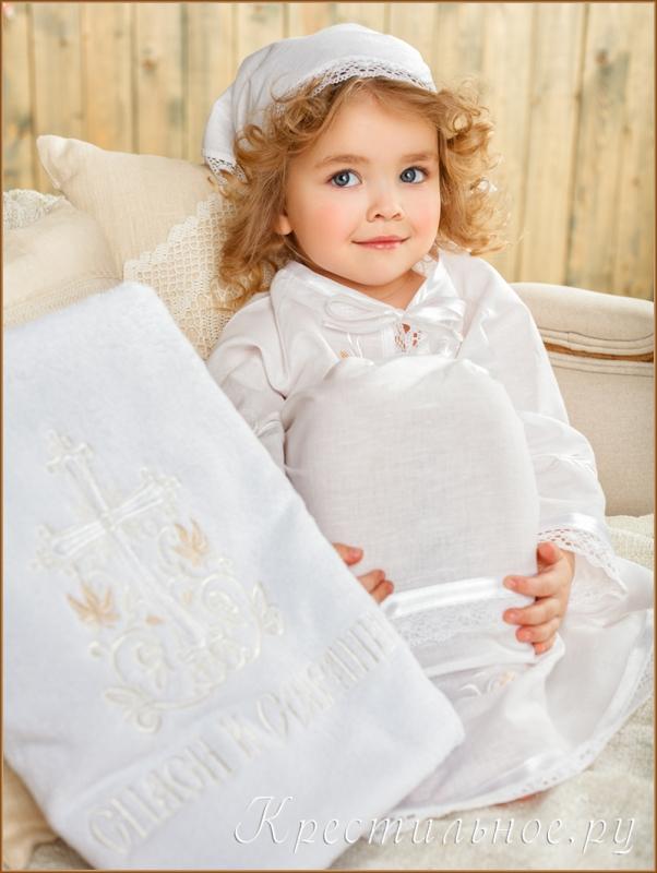 крестильный набор лилия с полотенцем