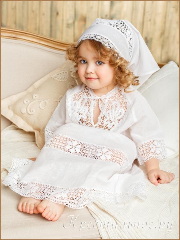 крестильное платье ручной работы