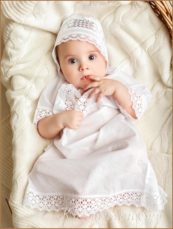 рубашка для крещения девочки