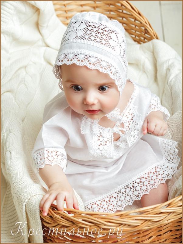рубашка и чепчик из крестильного набора ирина