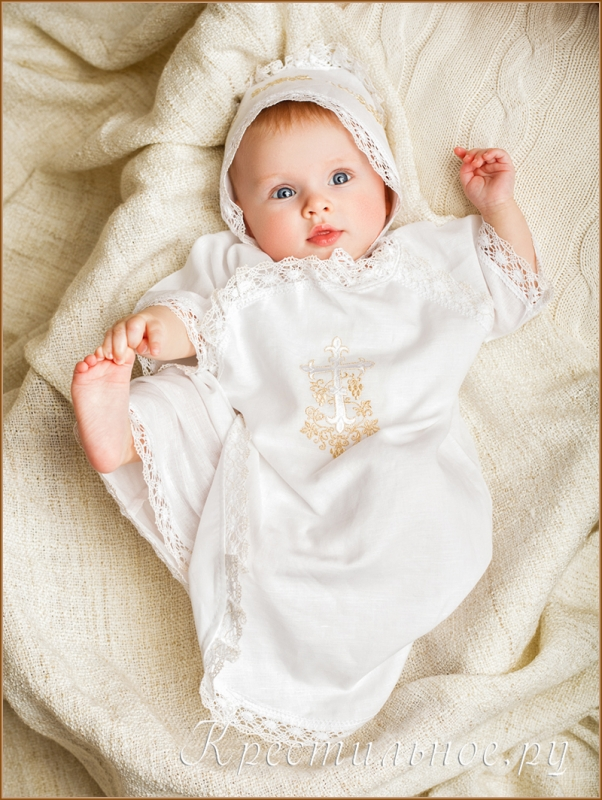 распашонка для крещения ребенка