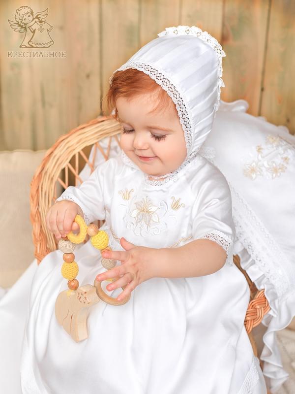 чепчик с кружевом для девочки модель Елизавета