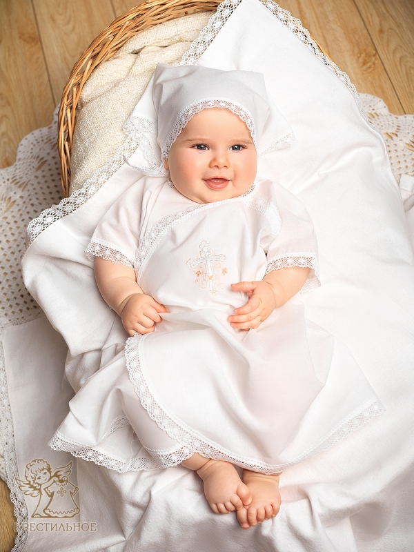 распашная рубашка для крещения