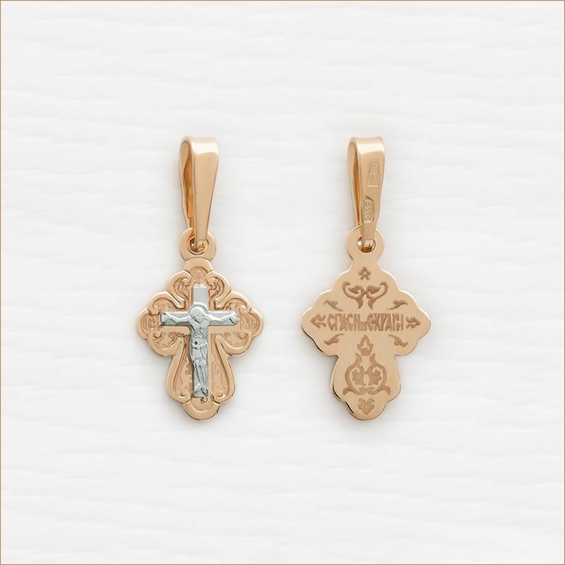 крестик золото для ребенка арт.10206