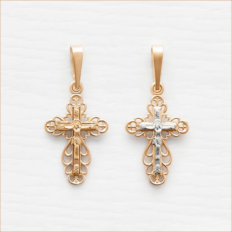 маленький золотой крестик арт.10327
