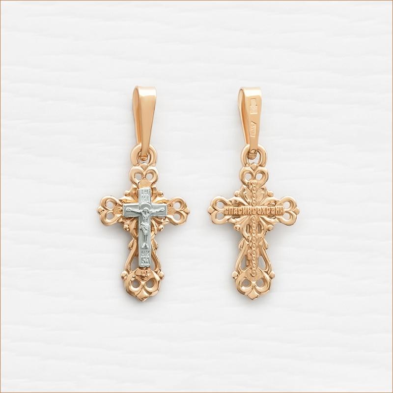 маленький золотой крестик для ребенка арт.11172