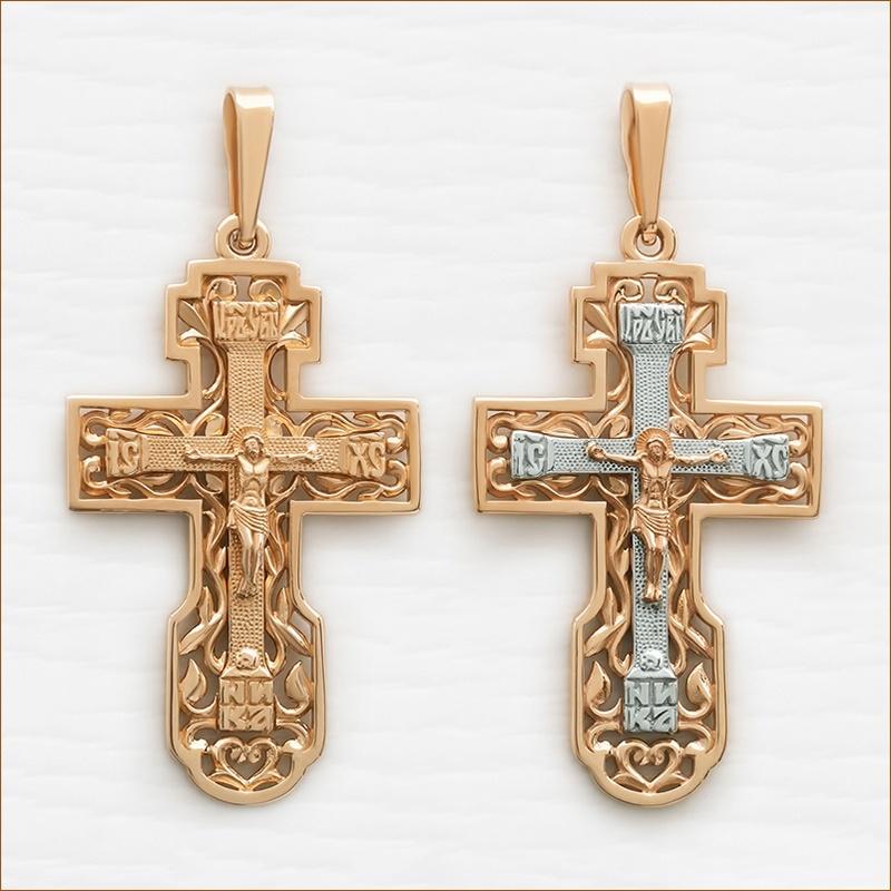 большой мужской крест из золота 585 пробы арт.12092