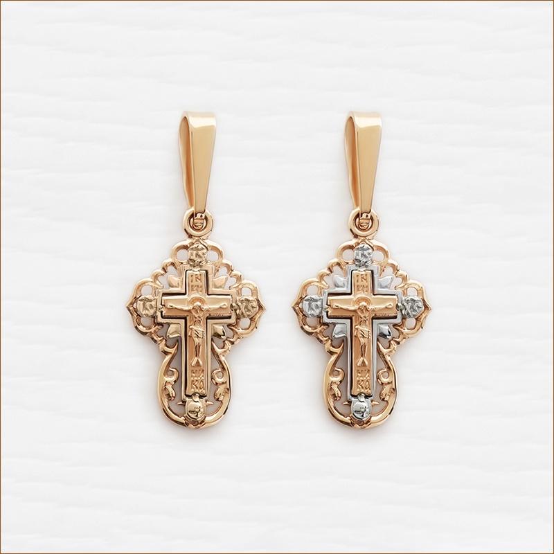 маленький золотой крестик арт.12153
