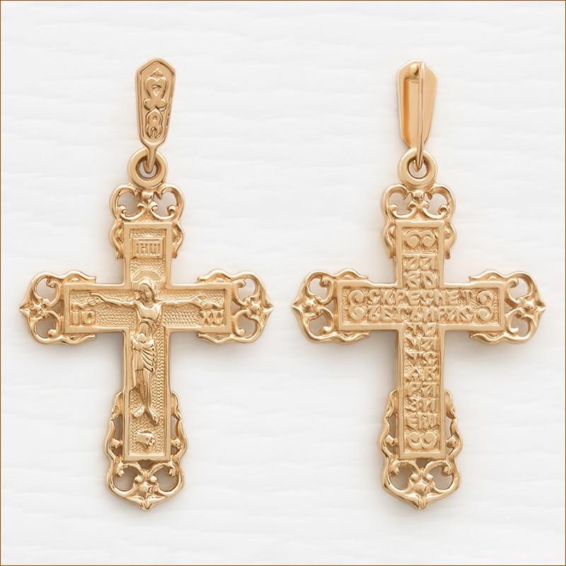 мужской золотой крест арт.35250